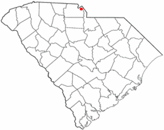 Fort Mill, South Carolina - Image: SC Map doton Fort Mill