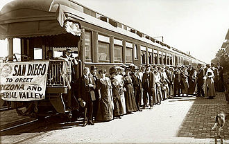 1919 in rail transport - First passenger train on San Diego & Arizona Railway