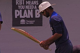 Shikhar Dhawan - Dhawan during a practice session in January 2015