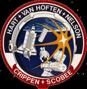 James van Hoften - Image: STS 41 C patch