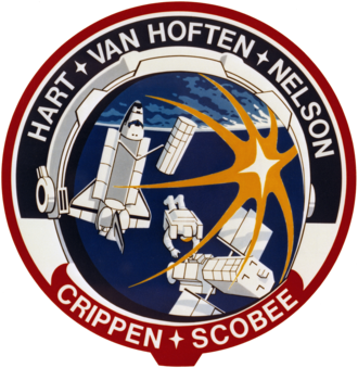 Terry Hart - Image: STS 41 C patch