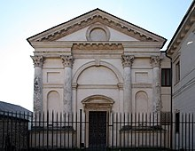 The emphatically classical church façade of Santa Maria Nova, Vicenza (1578-90) was designed by the influential Renaissance architect Andrea Palladio.