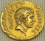 Аурей Секста Помпея, 37/36 г. до. н. э.