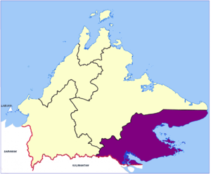 Tawau Division - Location map of the Tawau Division.