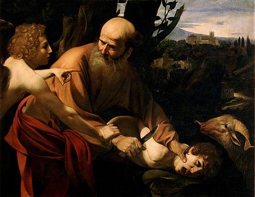 Sacrifice of Isaac-Caravaggio (Uffizi)