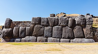 Sacsayhuamán - A section of the wall of Sacsayhuamán