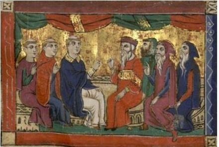 Athanasius at the Council of Nicea, William of Tyre manuscripts. Saint Athanasius.jpg