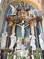 Saint Bernard church, Holy Cross altar in Eger, 2016 Hungary.jpg