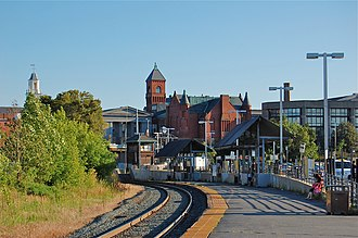 Salem (MBTA station) - 1987-built station viewed in 2010