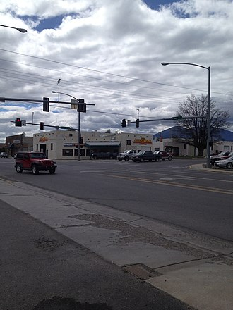 Salmon, Idaho - Image: Salmon, ID Intersection