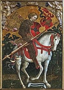 San Trovaso (Venice) - San Crisógono a caballo - Michele Giambono.jpg