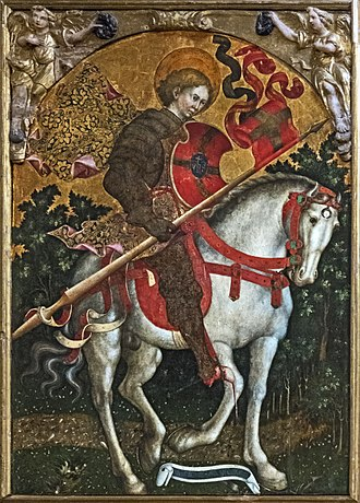 Saint Chrysogonus - San Crisogono, by Michele Giambono (San Trovaso, Venice)