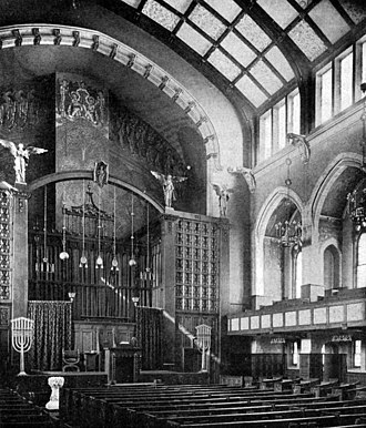 Second Presbyterian Church (Chicago) - View of the remodeled sanctuary, c. 1902