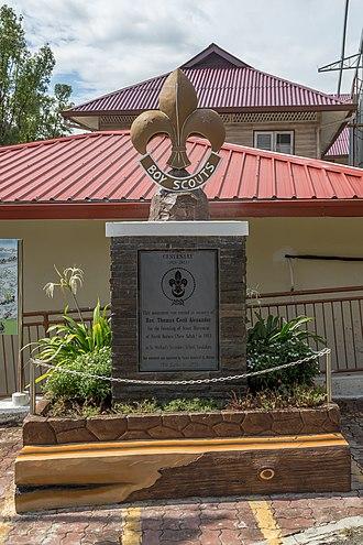 Persekutuan Pengakap Malaysia - The centenary monument of Scout Movement in memory of Rev. Thomas Cecil Alexander at Sandakan, Sabah.