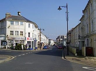 Sandown - Image: Sandown High Street, IW, UK