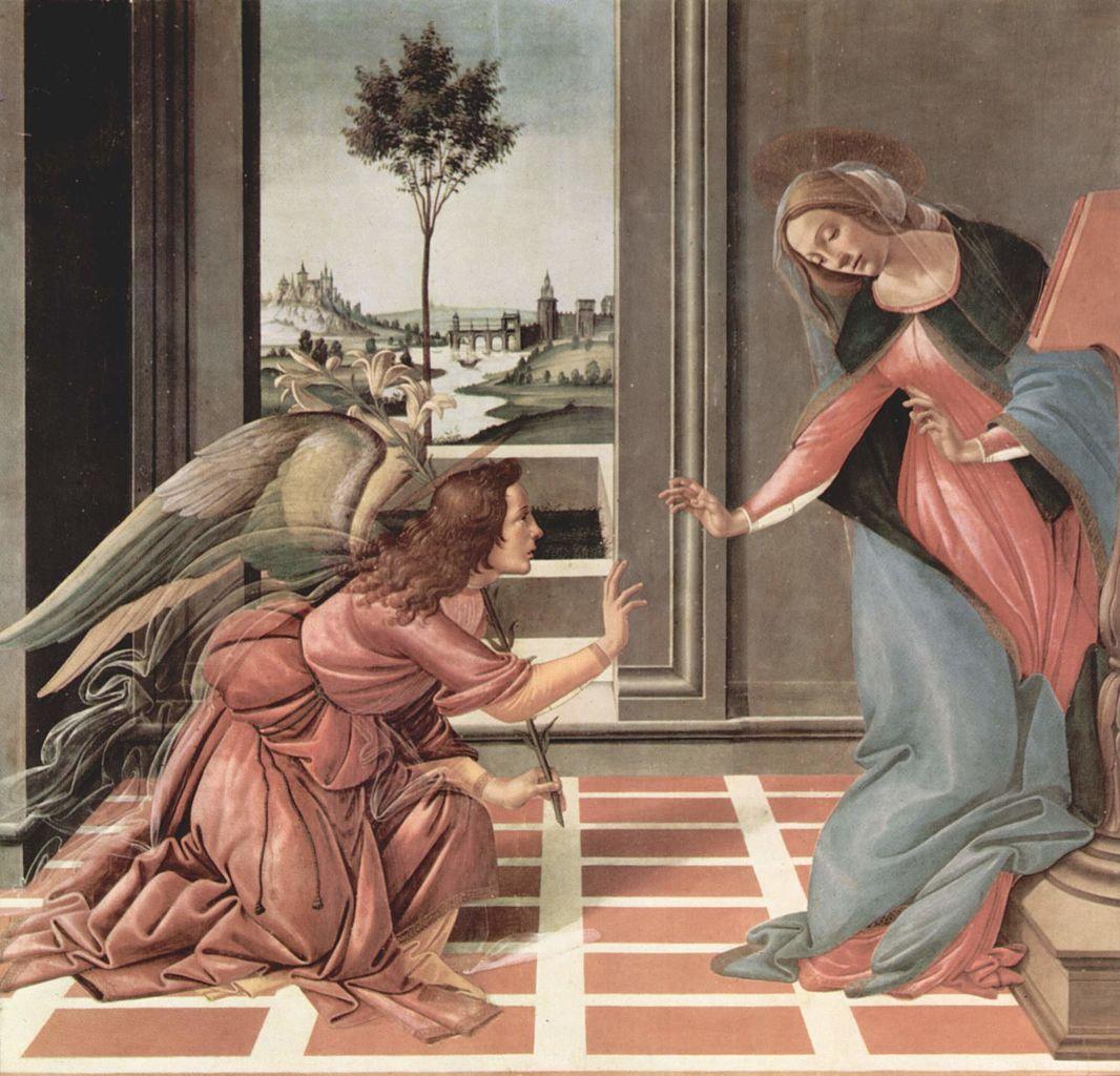 Image result for botticelli fresco creative commons
