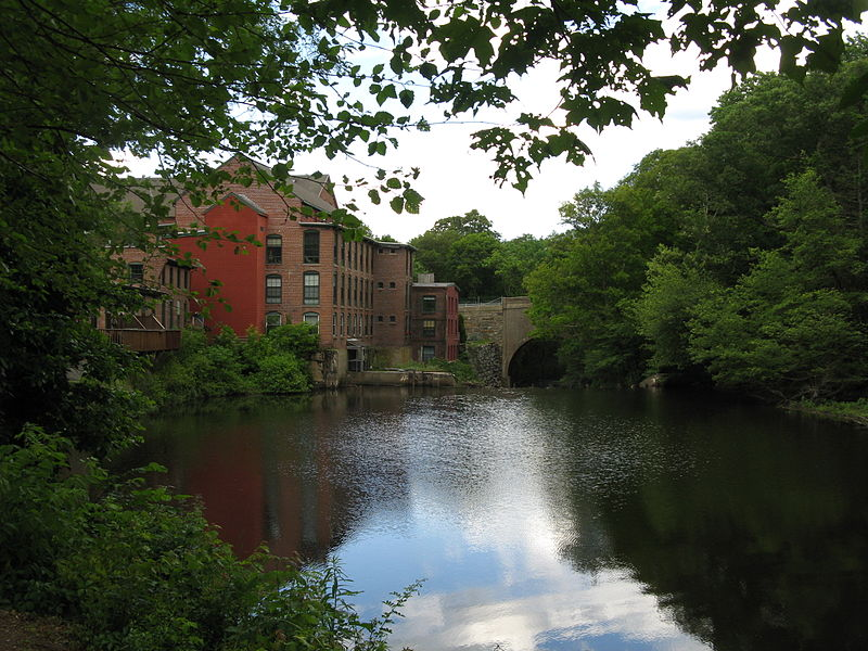 File:Sanford Mills on the Charles River, Medway MA.jpg