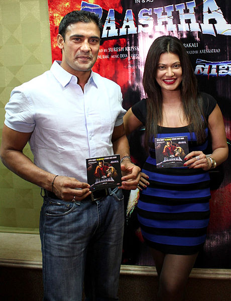 File:Sangram Singh,Payal Rohatgi From Audio release of 'Baashha' (3).jpg