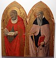 Sano di pietro (e maestro dell'osservanza), ss. antonio abate e girolamo, 1450-60 circa, 01.JPG