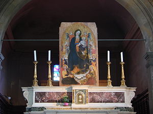 """Santa Croce in Fossabanda, Pisa - """"Madonna and Child with Angelic Musicians"""""""