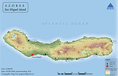 Physical map of Sao Miguel island