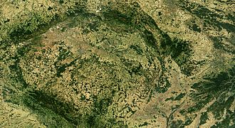 Outline of the Czech Republic - An enlargeable satellite image of the Czech Republic