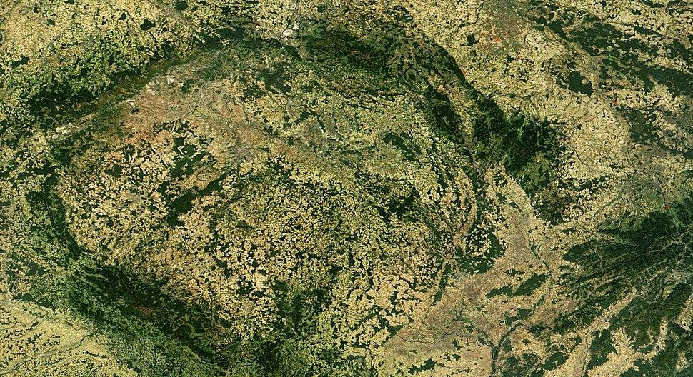 Satellite image of Czech Republic in September 2003