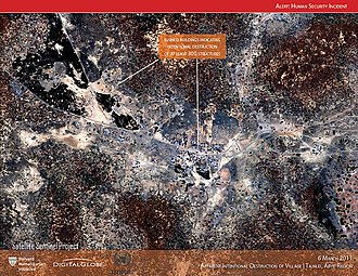 Satellite Sentinel Project - Satellite image of the burning of Tajalei, Sudan (6 March 2011)