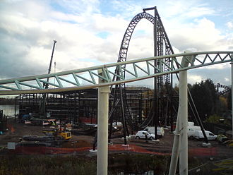 Saw – The Ride - Saw – The Ride under construction on 28 October 2008