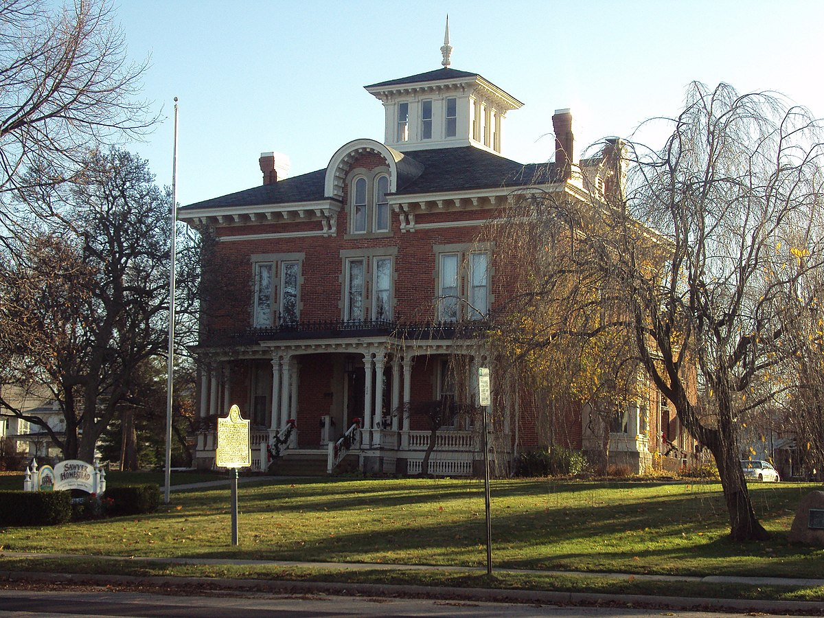 Sawyer house monroe michigan wikipedia for Building a home in michigan