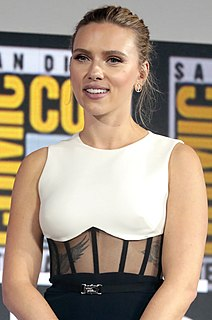 Scarlett Johansson American actress and singer
