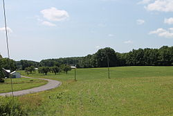 A field in Jordan Township