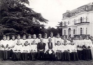 Surplice - A school choir wearing surplices over cassocks