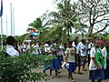 Schoolkids marching in the parade (7749924446) (2).jpg