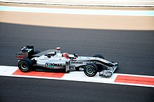 Photo de la Mercedes-Benz MGP W01 de Schumacher