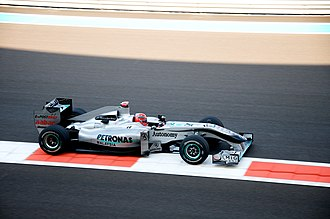 2010 Abu Dhabi Grand Prix - Michael Schumacher's spin and resultant collision with Vitantonio Liuzzi brought out the safety car on the first lap.