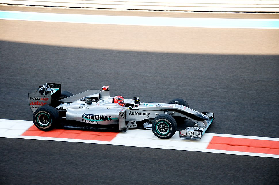 Schumacher abu dabi 2010
