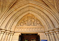 Sculpture above door, Truro Cathedral.jpg