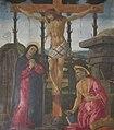 Scuola di botticelli, crocifissione con la madonna e san girolamo.JPG