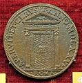 Scuola romana, medaglia di gregorio XIII, 1575, porta santa murata.JPG
