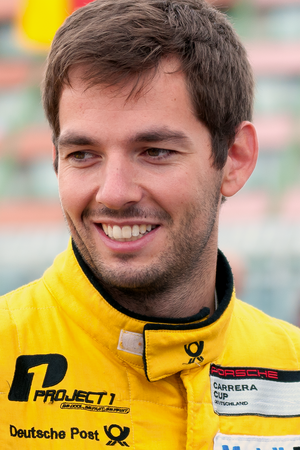 Sean Edwards (racing driver) - Edwards at the Porsche Carrera Cup Germany on the Nürburgring in 2013.
