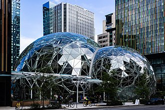 Amazon (company) - The Amazon Spheres, part of the Amazon headquarters campus in Seattle