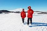 Secretary Kerry Walks With National Science Foundation Polar Programs Director Dr. Kelly Falkner in Cape Royds, Antarctica (30798303072).jpg
