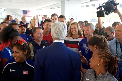 Secretary Kerry greets members of Team USA in Rio de Janeiro (28787761225).jpg