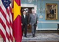Secretary Tillerson and Vietnamese Deputy Prime Minister and Foreign Minister Minh Enter the Treaty Room for a Camera Spray (33317631434).jpg