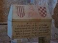 Sepulcre modern del comte d'Urgell a la capella de Santa Maria del castell de Xàtiva.JPG