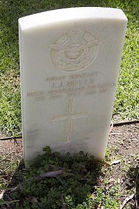 Sergeant J J Moyle gravestone in the Wagga Wagga War Cemetery.jpg