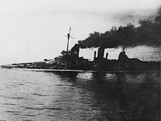 Franz von Hipper - Seydlitz; heavily damaged during the battle of Jutland and attempting to limp home
