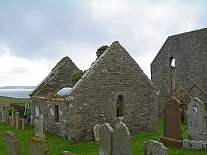 Shapinsay - Graveyard on Shapinsay, including the burial aisle of the Balfour family