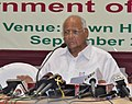 """Sharad Pawar addressing the press after the 1st meeting of the Committee of Chief Ministers on """"Bringing Green Revolution to Eastern India"""" at Kolkata on September 26, 2012.jpg"""